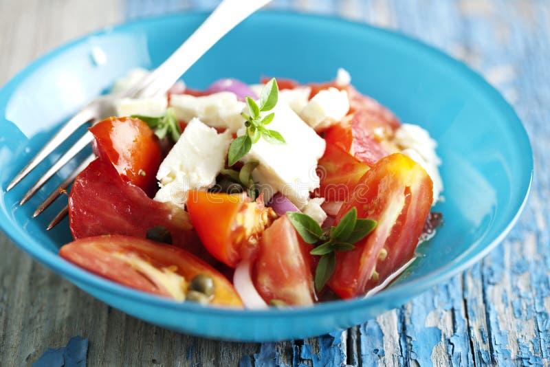 Tomatensalat stockbild