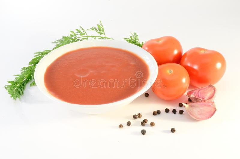 Tomatensauce stockfotos