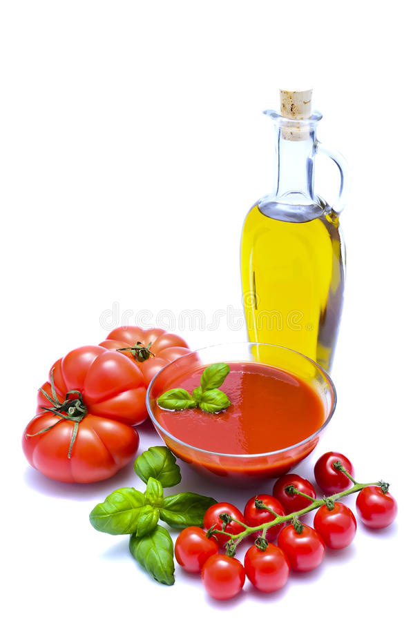 Tomatensaus royalty-vrije stock afbeeldingen