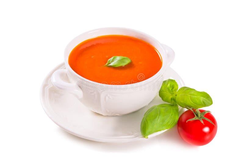 Tomatensoep royalty-vrije stock afbeelding
