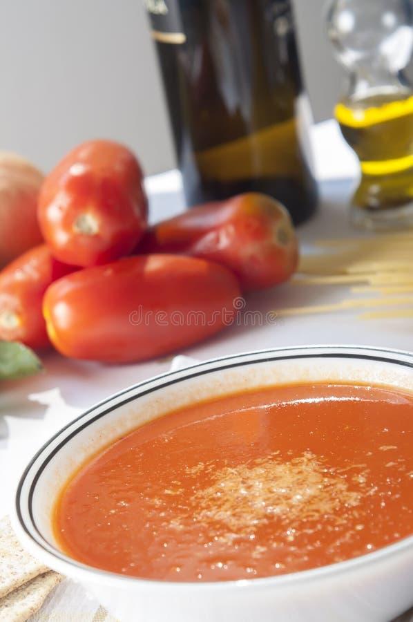 Tomatensoep royalty-vrije stock foto's