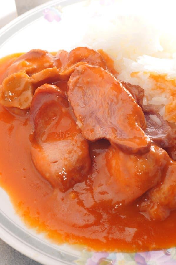 Tomatenvarkensvlees royalty-vrije stock afbeeldingen