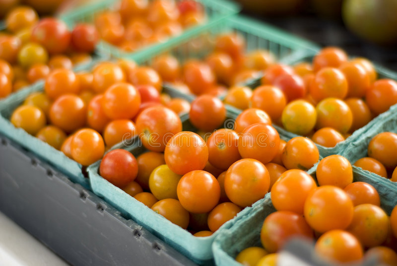 Tomates au marché du fermier images libres de droits