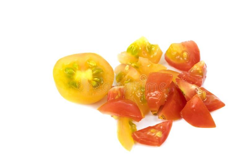 Tomates brilhantemente coloridos imagem de stock royalty free