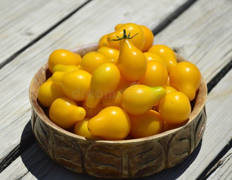 Tomates-cerises jaunes image stock