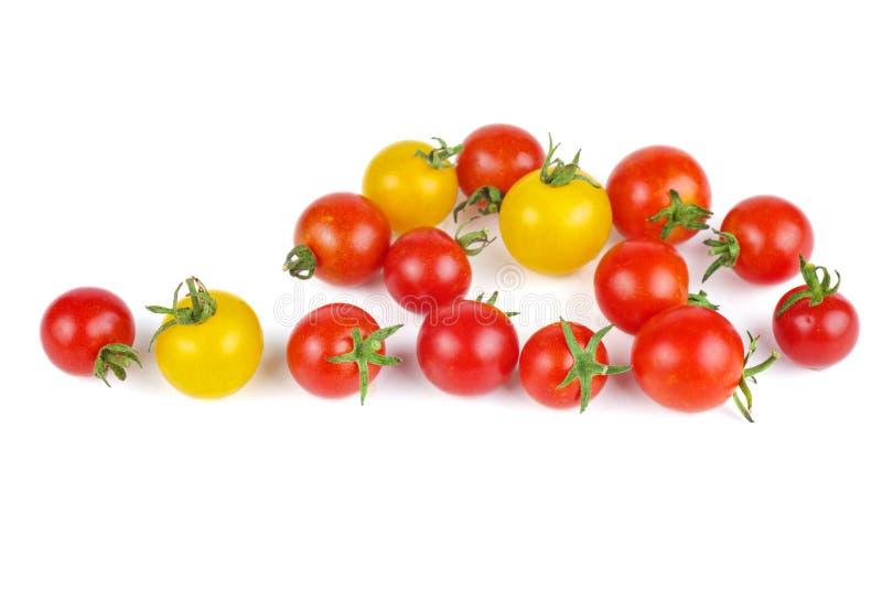 Tomates-cerises jaunes et rouges photo stock