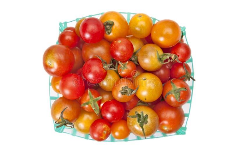 Tomates-cerises organiques image libre de droits