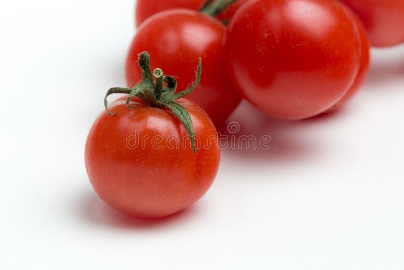Tomates-cerises sur le fond blanc photographie stock