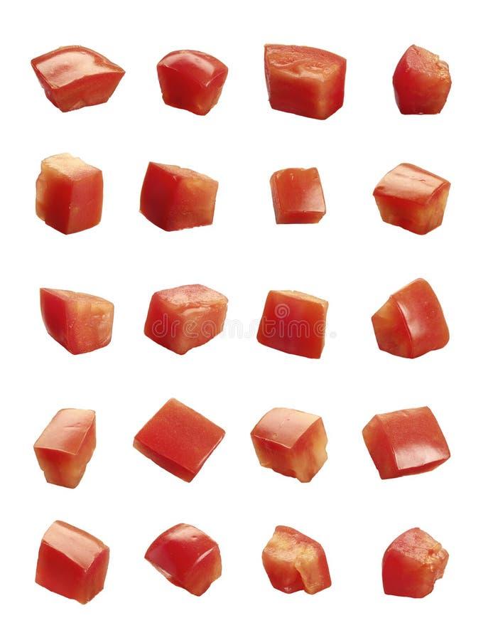 Tomates découpées photo libre de droits