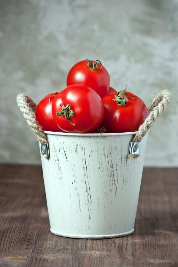 Tomates délicieuses colorées fraîches images stock