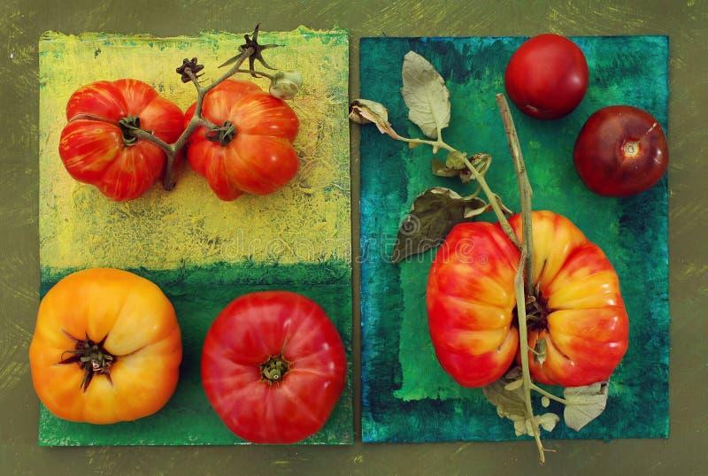 Tomates d'héritage photographie stock libre de droits