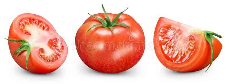 Tomates d'isolement sur le blanc illustration de vecteur