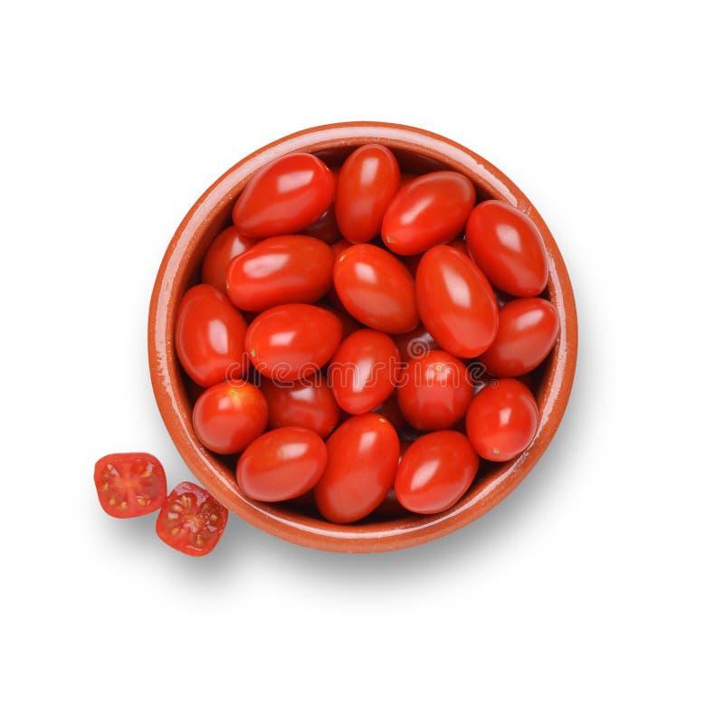 Tomates de ameixa do bebê imagem de stock royalty free