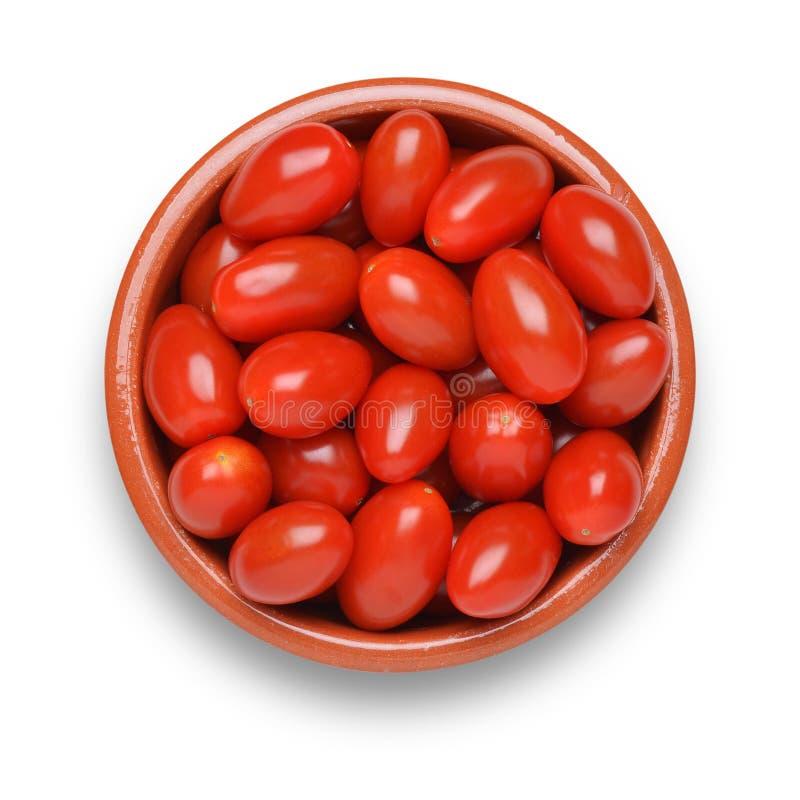 Tomates de ameixa do bebê imagens de stock royalty free