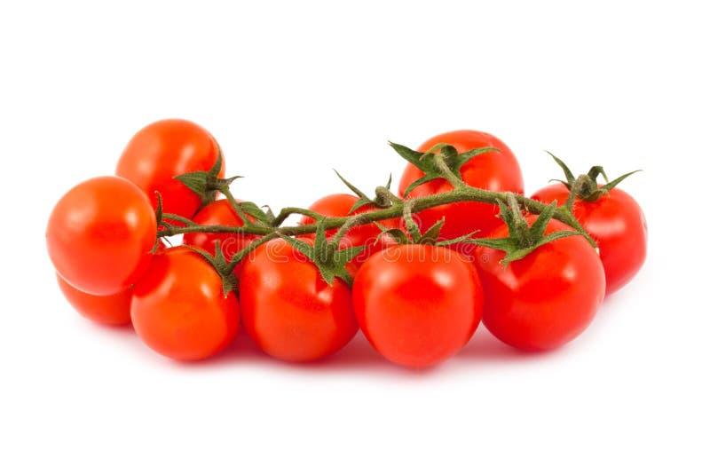 Tomates de cereja vermelhos maduros fotos de stock