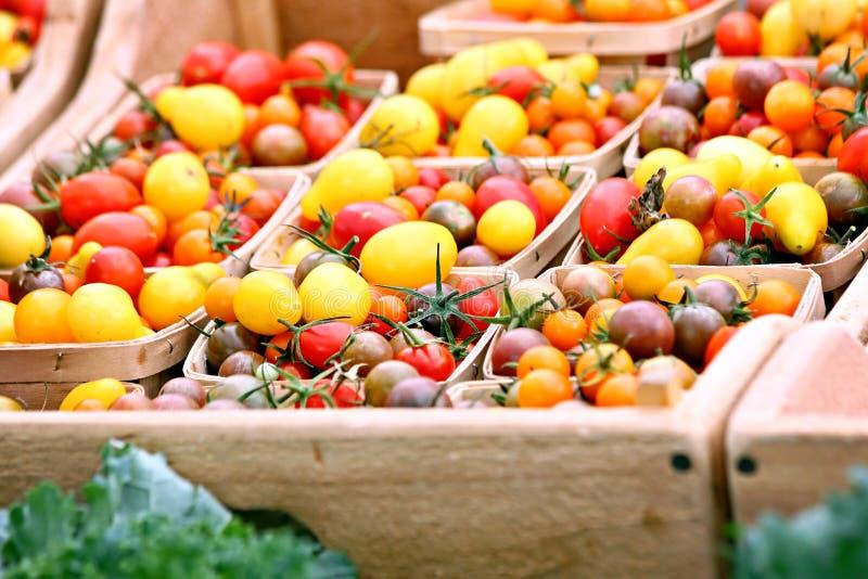 Tomates de cereza de la herencia imagen de archivo