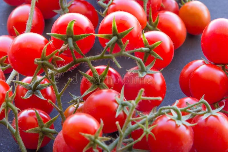 Tomates de cereza orgánicos imágenes de archivo libres de regalías