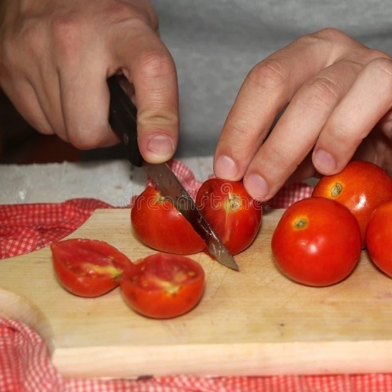 Tomates de coupe photos libres de droits