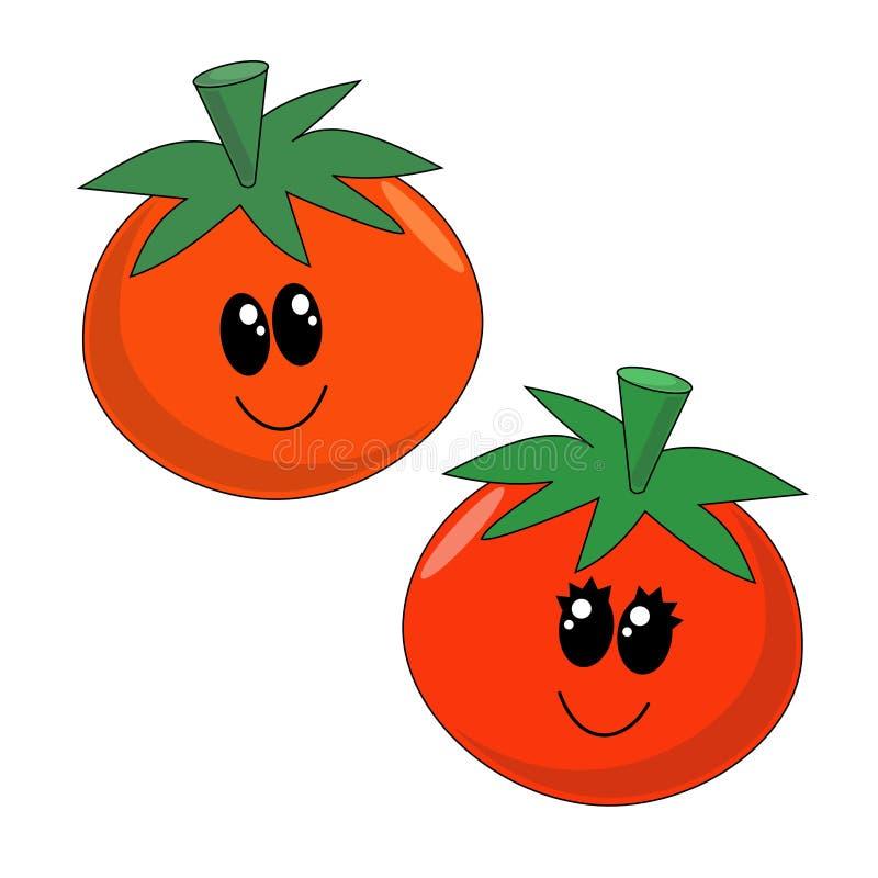 Tomates de dessin animé illustration stock