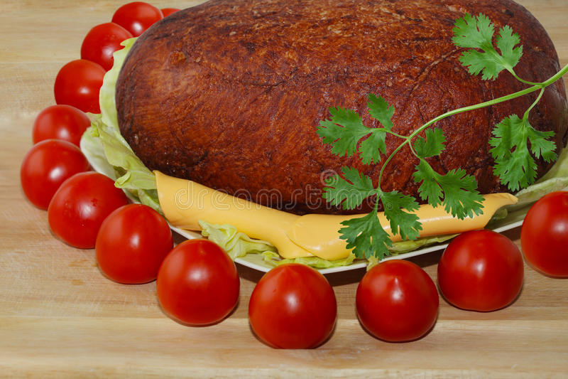 Tomates de fromage de jambon images libres de droits