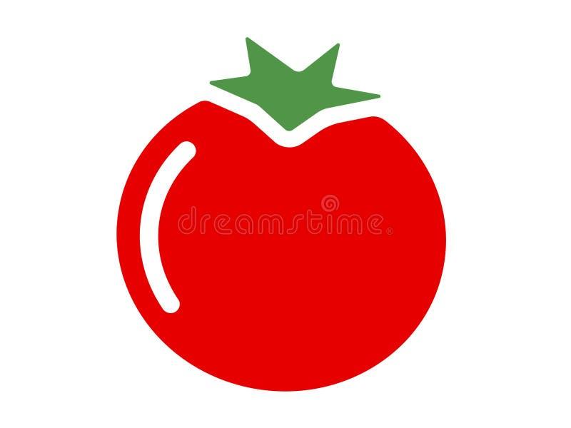 Tomates de logo de vecteur sur un fond blanc illustration de vecteur