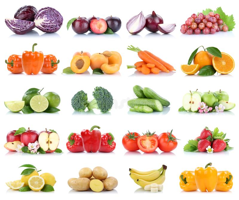 Tomates de pomme d'isolement par collection de fruits et légumes oranges image stock