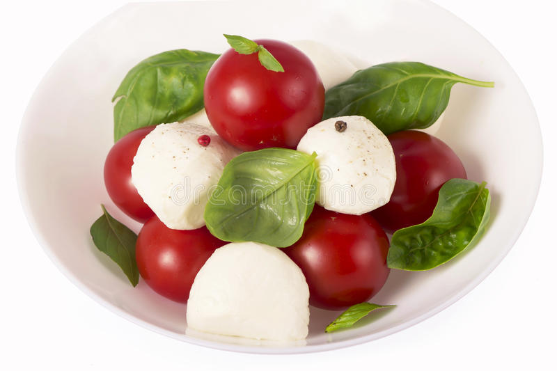 Tomates e queijo pequenos imagem de stock royalty free