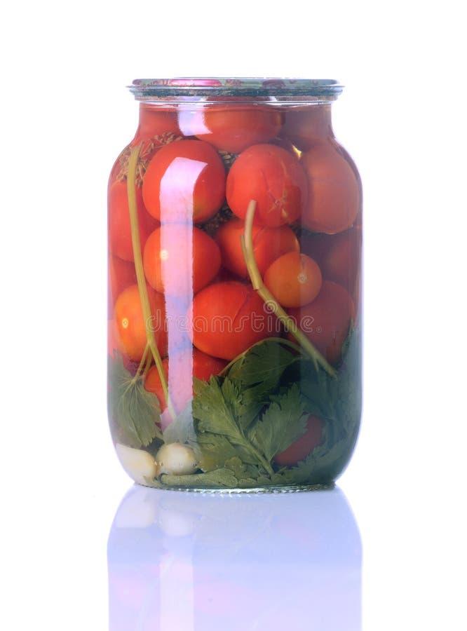 Tomates en boîte d'isolement photos libres de droits