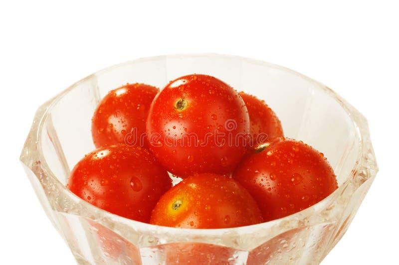 Tomates en el bol de vidrio imagen de archivo imagen de - Bol de vidrio ...