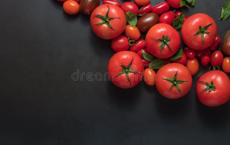 Tomates et menthe sur la table photo libre de droits