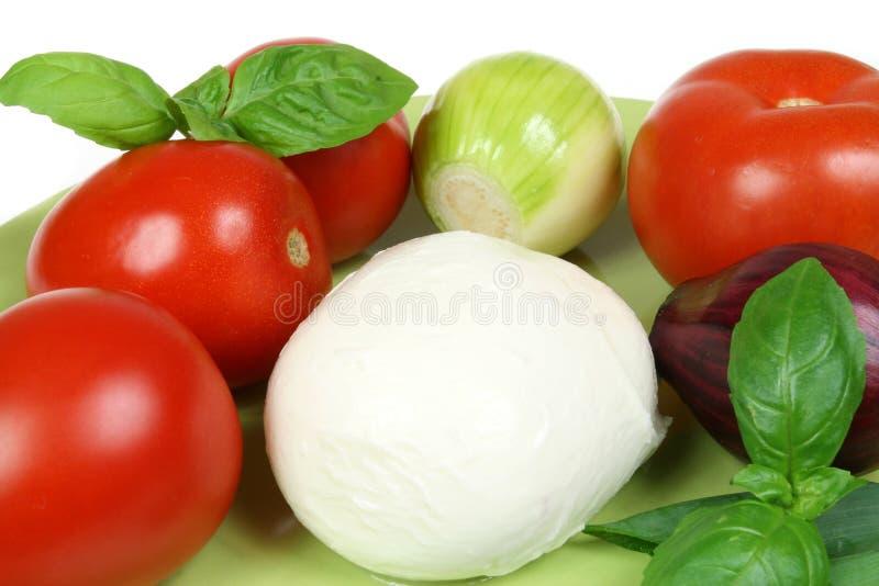 Tomates et mozarella image stock