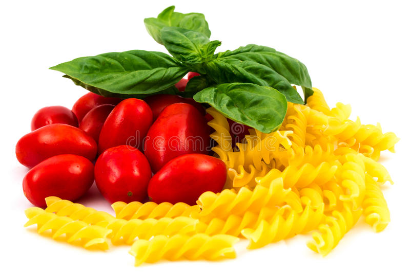 Tomates et pâtes de San Marzano image stock