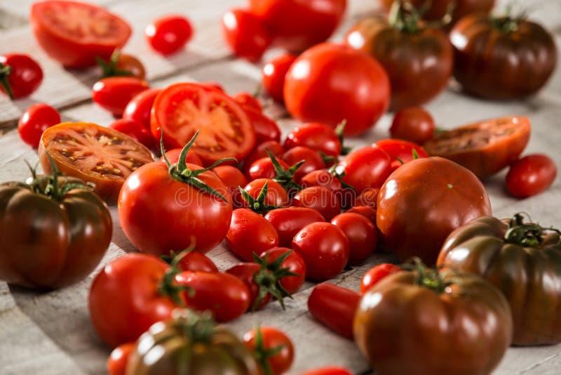 Tomates frescos Fundo vermelho dos tomates Grupo de tomates imagem de stock royalty free