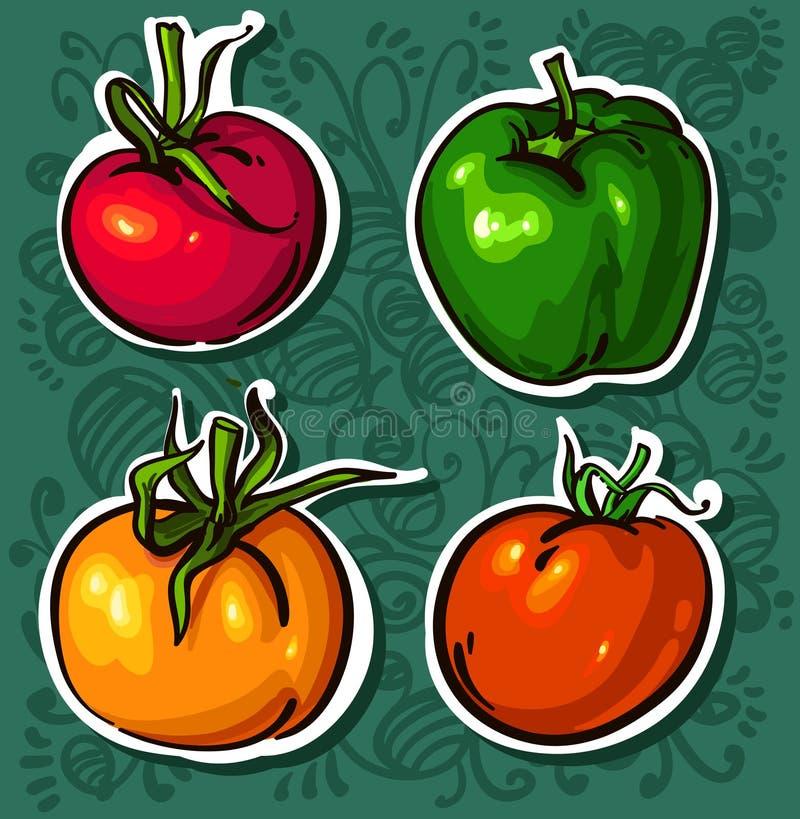 Tomates LUMINEUSES. Légumes Savoureux Photo libre de droits