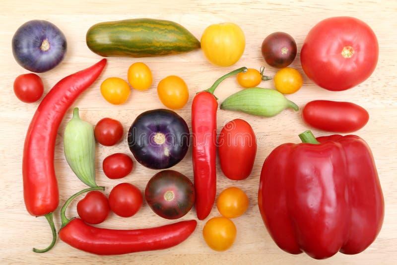 Tomates, pimentas e tomatillo imagem de stock royalty free
