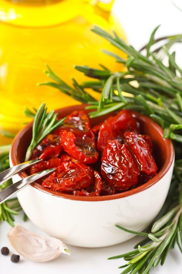 Tomates Sundried. imagem de stock