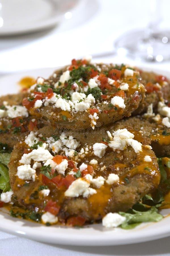 Tomates verdes fritos 2 imágenes de archivo libres de regalías