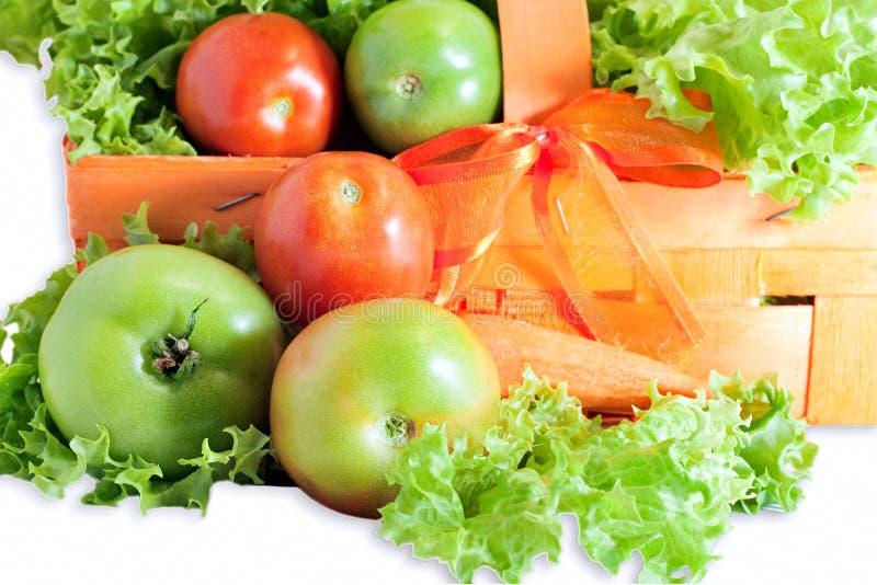 Tomates vertes et rouges image stock