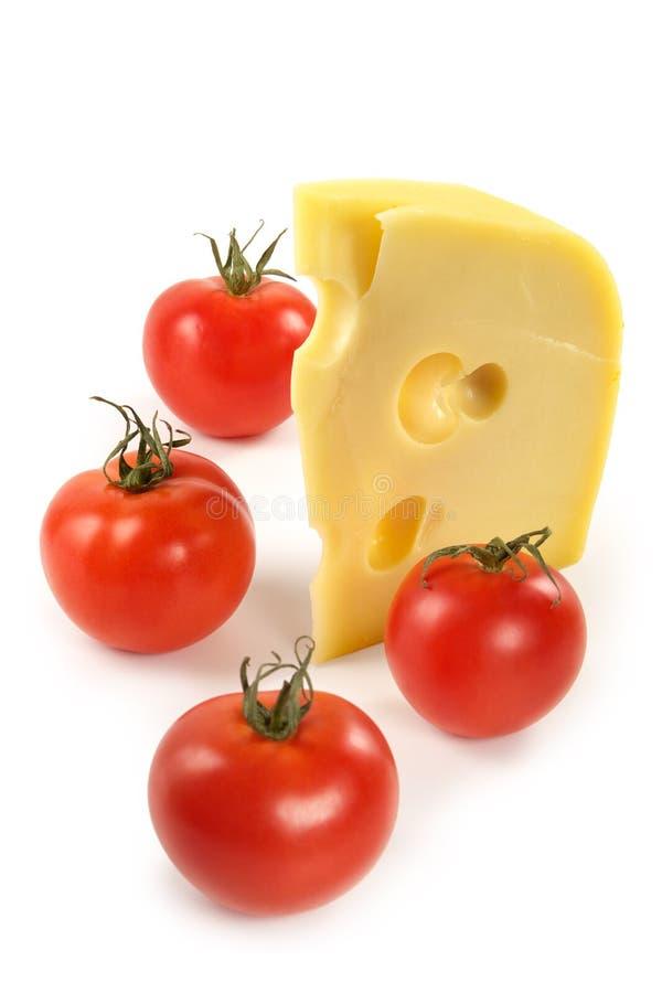 Tomates y queso foto de archivo
