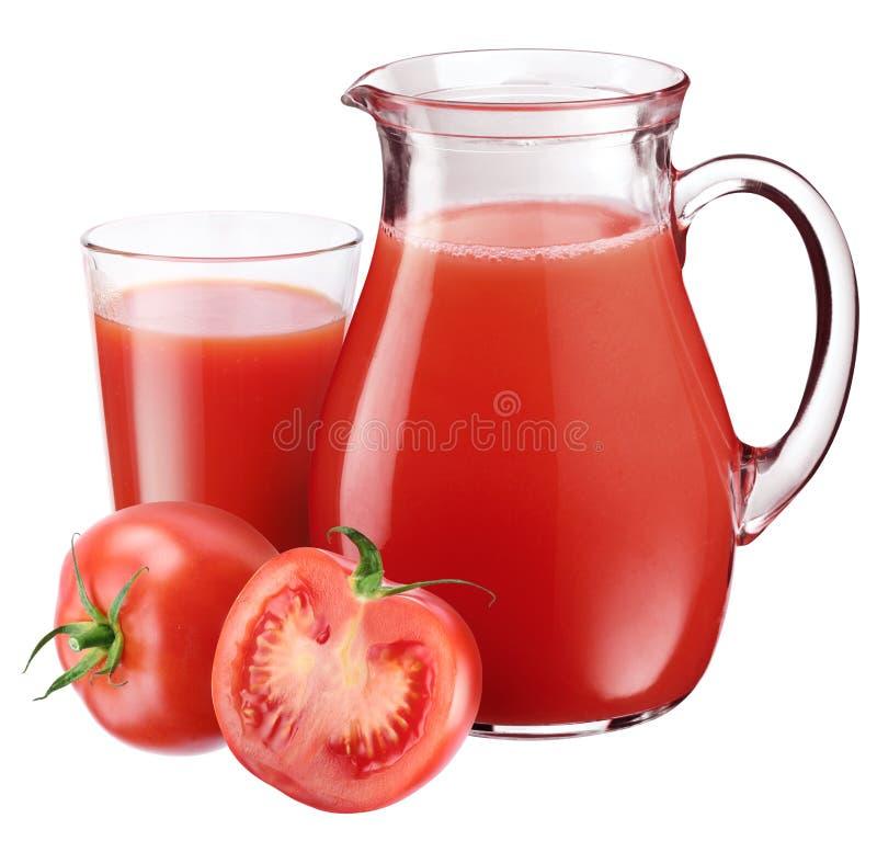 Tomatesaft. lizenzfreie stockfotos