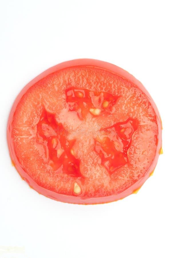 Tomatescheibenahaufnahme lizenzfreies stockbild