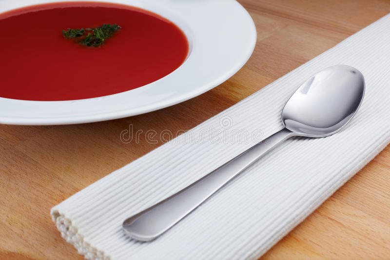 Tomatesuppe lizenzfreies stockbild