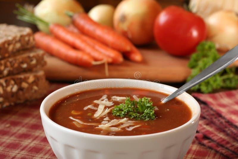Tomatesuppe lizenzfreie stockbilder