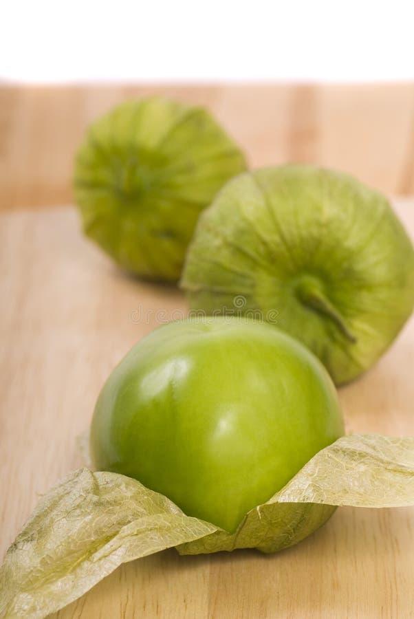 Tomatillos frais image libre de droits