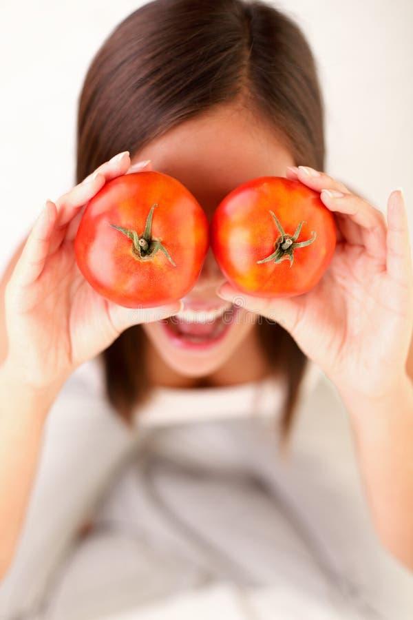 tomatkvinna royaltyfri foto