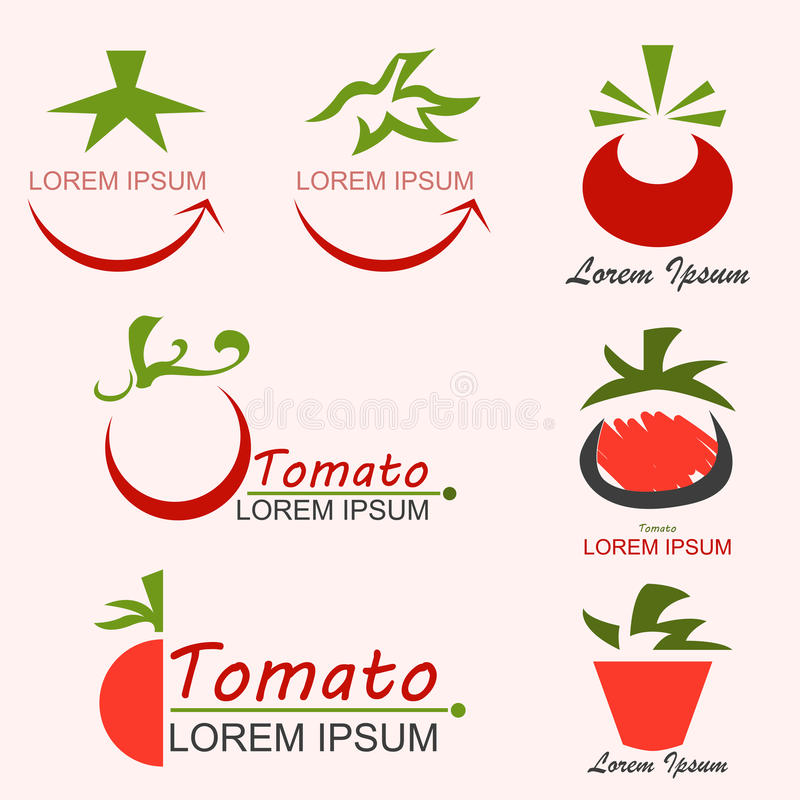Tomatlogo stock illustrationer