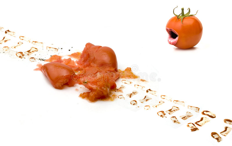 Tomato Accident Stock Photo