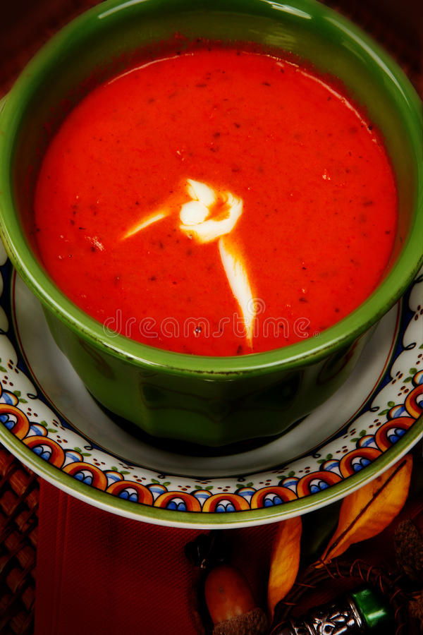 Download Tomato Bisque Soup stock photo. Image of plate, lunch - 28095382