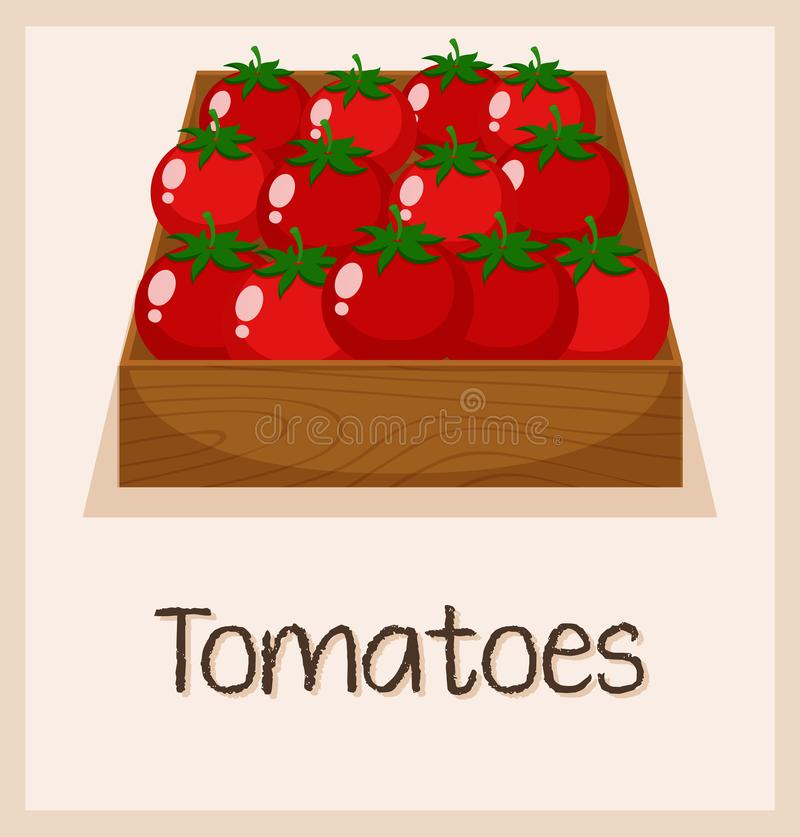 A tomato in the box royalty free illustration