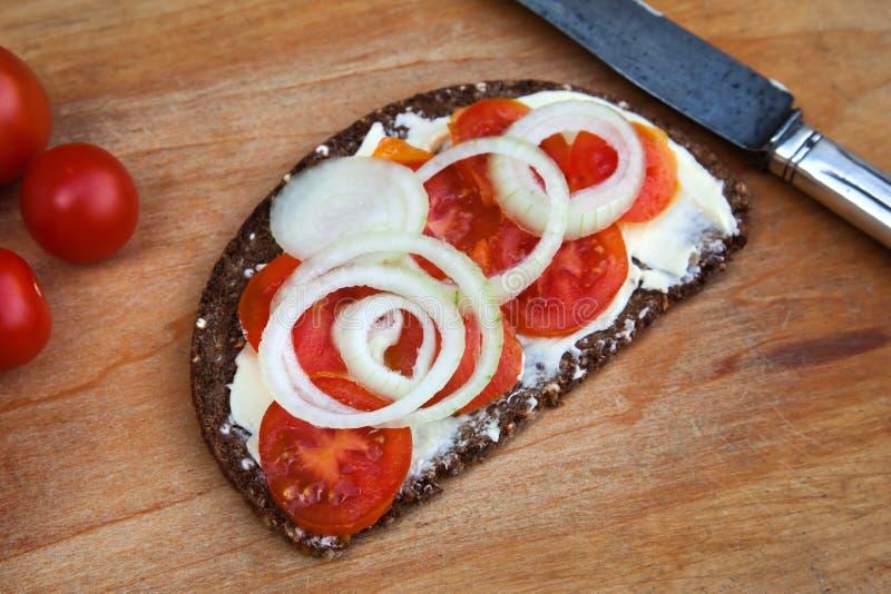 Tomato bread slice